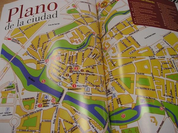 Aranda Del Duero Mapa.El Plano Turistico De Aranda Continua Con Errores Diario