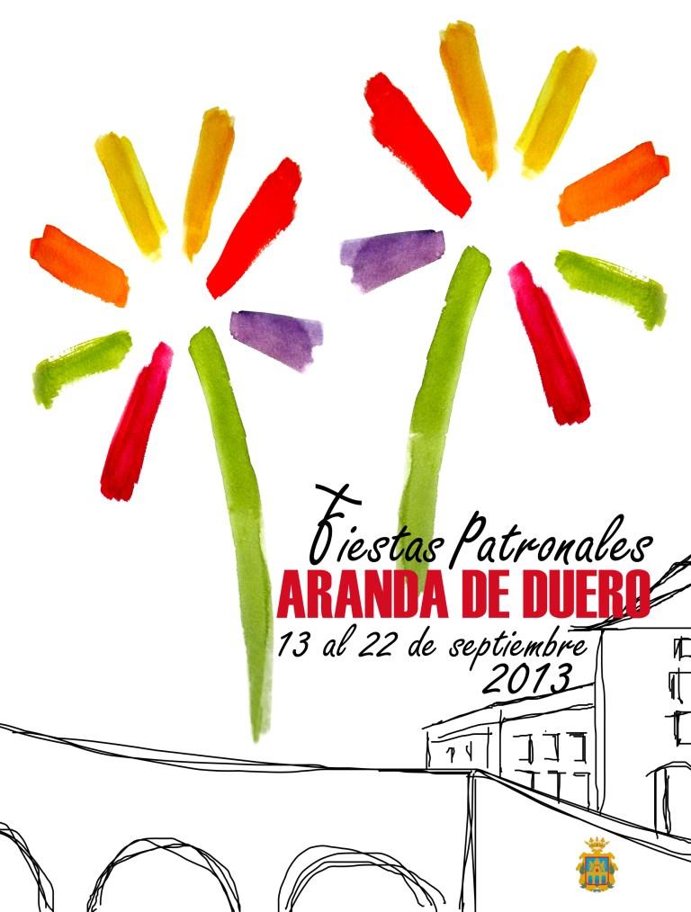 cartel de fiestas aranda 2013
